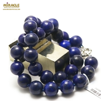 "collier lapis lazuli ""perle ronde 14 mm """