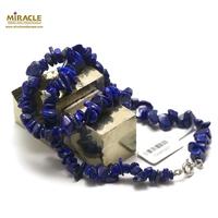 "collier lapis lazuli ""chips"" ,pierre naturelle"