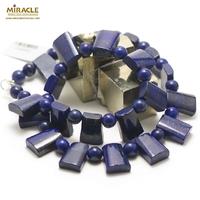 "collier lapis lazuli ""trapèze horizontal"""