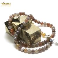 "collier agate de botswana ""perle ronde 6mm"""