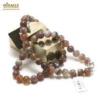 "collier agate de Botwsana ""perle ronde 8 mm"""
