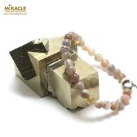 """Bracelet agate de Botswana """" perle ronde 6 mm"""""""