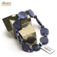 "bracelet sodalite ""palet rond - perle ronde 6 mm"""