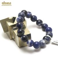 "bracelet sodalite ""perle ronde 12 mm"""