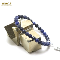 "Bracelet sodalite "" perle ronde 6 mm """