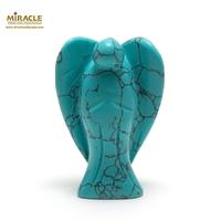 """statuette minéraux """"Ange"""" en pierre naturelle de turquoise"""