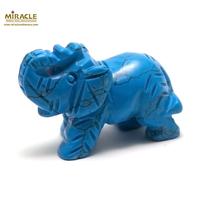 """statuette minéraux """" éléphant"""", en pierre naturelle de turquoise"""