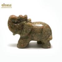 """statuette minéraux """" éléphant"""", en pierre naturelle d'agate"""
