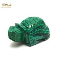 """statuette minéraux """"tortue"""", pierre naturelle de malachite"""