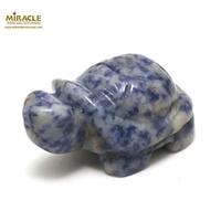 """statuette minéraux """"tortue"""",pierre naturelle de sodalite"""