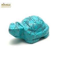 """statuette minéraux """"tortue"""",pierre naturelle de turquoise"""