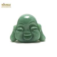 """statuette minéraux """"tête de bouddha"""", pierre naturelle d'aventurine"""