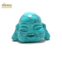 """statuette minéraux """"tête de bouddha"""", pierre naturelle de turquoise"""