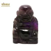 """statuette minéraux """" bouddha"""" en pierre naturelle d'améthyste"""