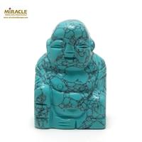 """statuette minéraux """"bouddha"""", pierre naturelle de turquoise"""