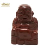 """statuette minéraux """" bouddha"""", pierre naturelle de jaspe rouge"""