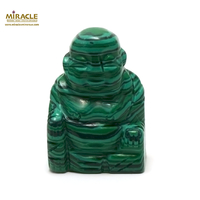 """statuette minéraux """"bouddha"""", pierre naturelle de malachite"""