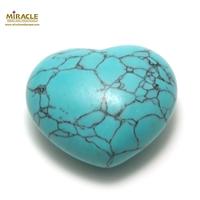 """statuette minéraux """"coeur"""",pierre naturelle de turquoise"""