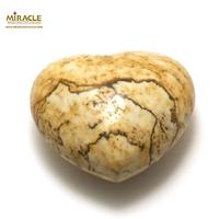 """statuette minéraux """"coeur"""",pierre naturelle de jaspe paysage"""