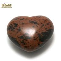 """statuette minéraux """"coeur"""",pierre naturelle de jaspe mokaïte"""
