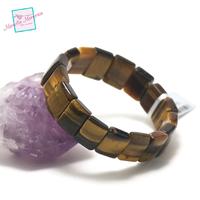 """bracelet oeil du tigre, plaquette """"rectangle"""""""