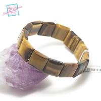 """bracelet oeil du tigre, plaquette """" carrée"""""""