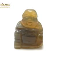 """statuette minéraux """" bouddha"""" en pierre naturelle d'agate"""