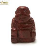 """statuette minéraux """" bouddha"""" en pierre naturelle de jaspe mokaïte"""