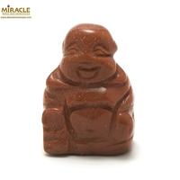 """statuette minéraux """" bouddha"""" en pierre de sandstone,pierre de soleil"""