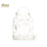 """statuette minéraux """"bouddha"""", pierre naturelle de cristal de roche"""