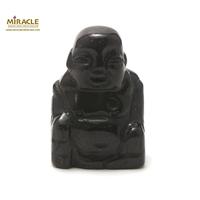"""statuette minéraux """"bouddha"""", pierre naturelle de pierre de nuit"""