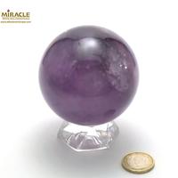 Magnifique sphère minéraux en améthyste, 7,5 cm
