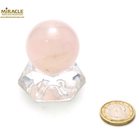 boule en pierre naturelle de quartz rose  3,5 cm