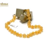 """collier citrine """" ronde 10 mm"""""""