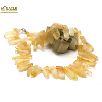 "Collier citrine ""pointe baroque"""