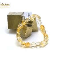 "bracelet citrine ""galet baroque"""