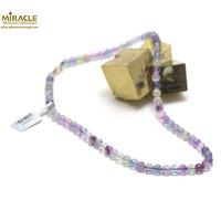 Collier fluorine , perle ronde 6 mm