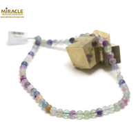 "Collier fluorite , ""perle ronde 8 mm"""