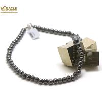 """collier hématite , """" perle ronde 8 mm"""""""