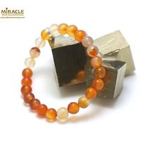 "bracelet cornaline, perle""ronde 8 mm"""