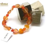 """bracelet cornaline, perle """"coeur/rond facettée 6 mm"""""""