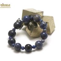 "bracelet dumortierite, perle ""ronde 14-6 mm"""