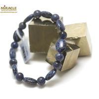 "bracelet dumortierite, perle ""palet oval-ronde 8 mm"""