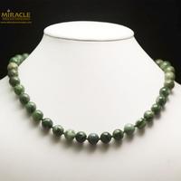 "Collier jade néphrite de Canada , perle ""ronde 10 mm"""