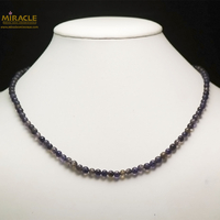 "collier iolite, perle ronde ""5 mm"""