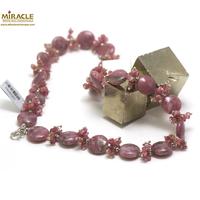 "collier de création Lepidolite, perle ""palet rond/chips"""