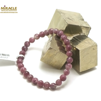 """bracelet Lépidolite, perle """"ronde 6 mm"""""""