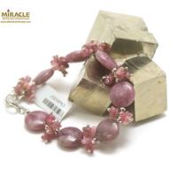 """Bracelet de création Lépidolite, perle """"palet rond/chips"""""""