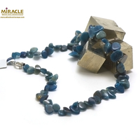 """collier apatite, perle""""grand chips"""""""