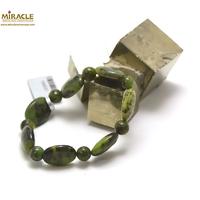 "bracelet chrysoprase, perle ""palet oval-ronde 8 mm"""